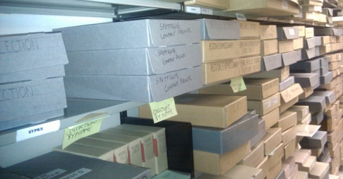 An image of the archive's shelves