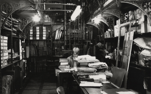 An image of the Iron Room in the old library building.