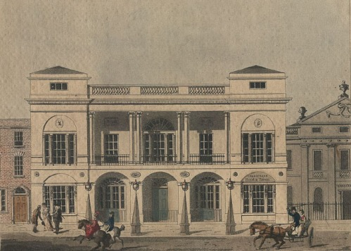 An etching of the Theatre Royal circa 1800