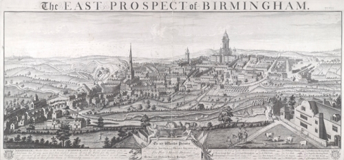 A panoramic image of Birmingham