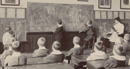 Image of children in School in 1896