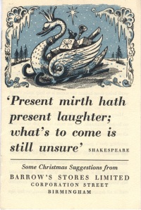 Image of Barrows Christmas list 1941