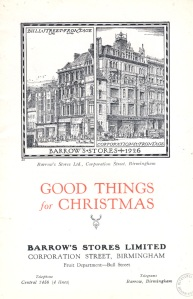 An image of Barrows Christmas list 1926