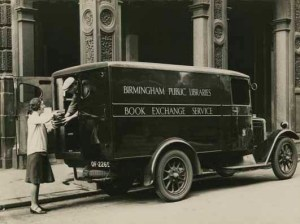 An image of the library van.