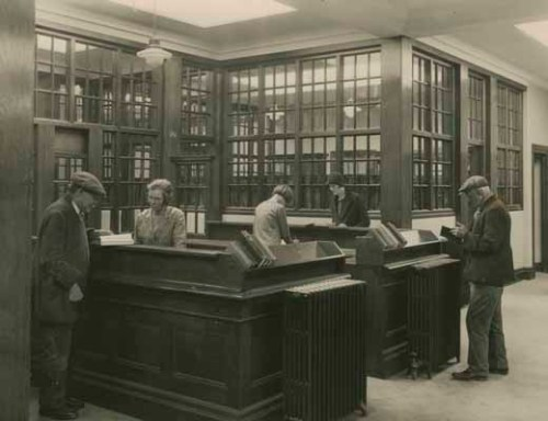 An image of the lending department in Ward End Library.