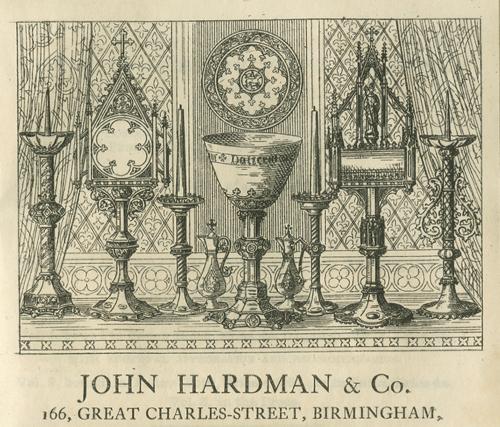 Advertisement for John Hardman & Co