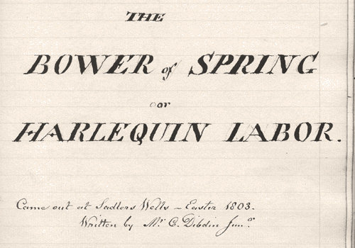 The Bower of Spring title page