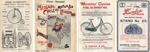 Birmingham Cycling Exhibition Catalogues