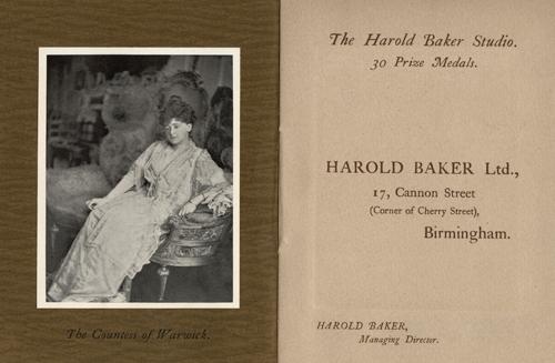Brochure for Harold Baker, photographer