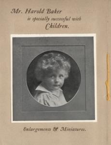 Promotional brochure for Harold Baker