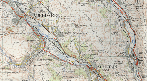 Map of Aberdare