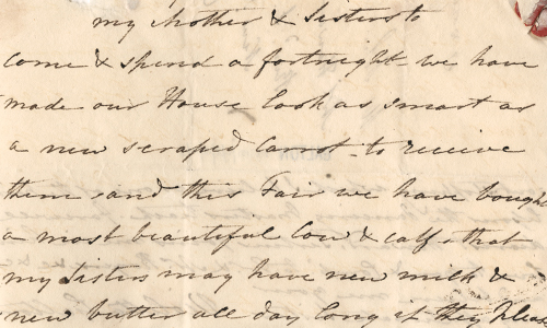 Letter from Violetta Galton