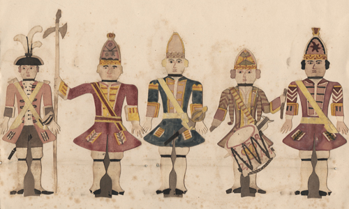 Hand-made paper soldiers