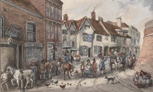 The Bull Ring in 1840
