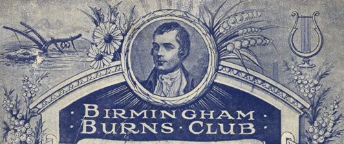 Burns' Anniversary Dinner Programme, 24 January 1919 [1017688; LF21.7]