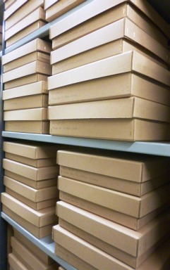 Town Clerks deeds in new archival boxes