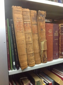Volumes in the Birmingham Collection in need of attention.