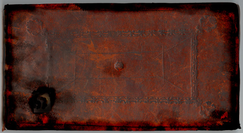 Leather covered notebook. 1713