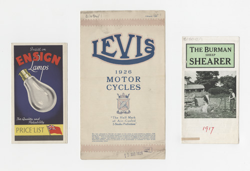 Three trade cataloge covers