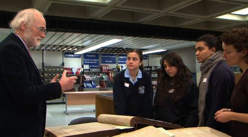 Archive workshop with Don Hazzard, Nikki Thorpe and Kings Norton girls
