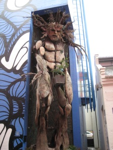The Green Man - our meeting point in the Custard Factory