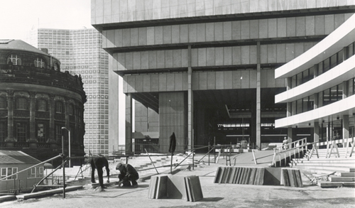 New Central Library under construction in 1973