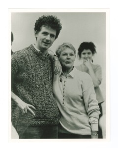 Photograph of Judy Dench with James Larkin rehearsing 'Much Ado, 198. Ref: MS 2339.