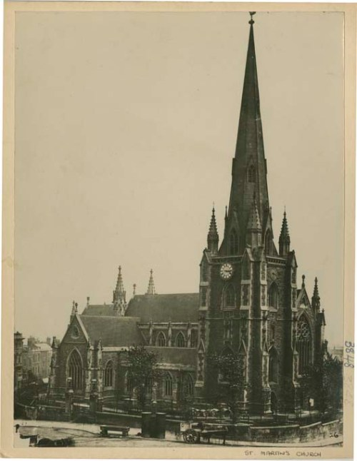 North west end of St Martin's church, Bull Ring, Birmingham