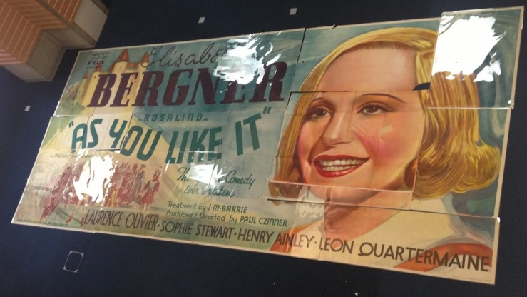 Poster promoting the 1934 film 'As You Like It', depicting one of the stars Elizabeth Bergner.
