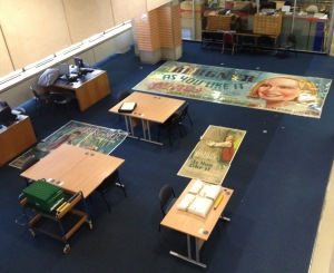 View of the Rep posters on the floor of the searchroom from floor 7
