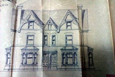 Front elevation of a Victorian suburban villa