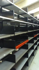 Central shelves