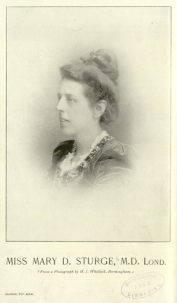 Miss Mary D. Sturge, M.D. Lond.