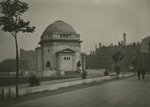 View of the Hall of Memory from Broad Street, Birmingham