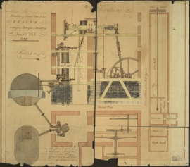 Engine drawing from the Boulton and Watt Collection