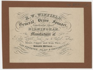 Winfield Rolling Mills Ltd. Birmingham [MS 322/169]