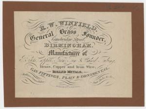 Winfield Rolling Mills Ltd. Birmingham [MS 322/169]