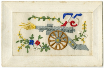 World War One embroidered postcards.