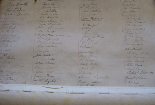 MS 3097 Petition of the inhabitants of Birmingham to Thomas Attwood