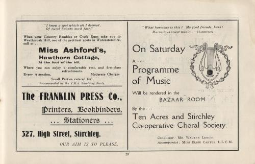 Co-operative Choral Society  [MC 74/B/6/1]