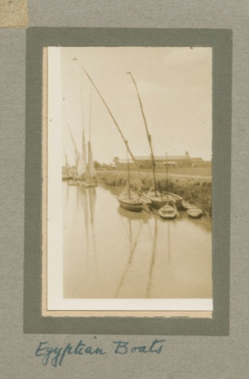 'Egyptian Boats' Cyril Lander Album (c.1926) MS 1515/24