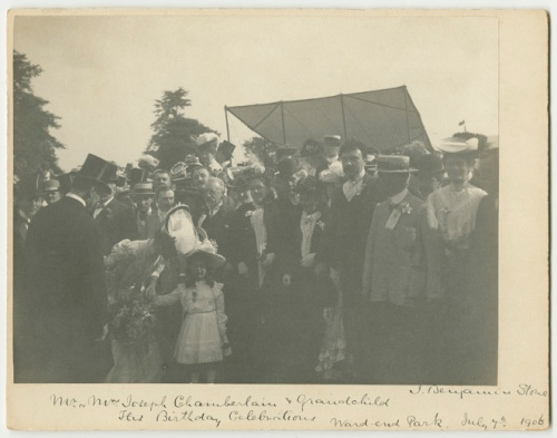Mr. & Mrs. Joseph Chamberlain and Grandchild. His Birthday Celeb