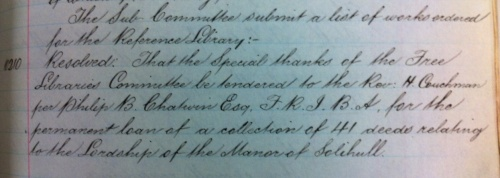 BCC 1/AT/1/1/11 Free Libraries Committee Minutes 1914