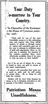 Birmingham Daily Mail Thursday 6th August 1914