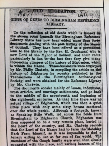 Libraries News Cuttings 1914