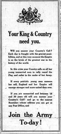 Birmingham Daily Mail, Wednesday 5th August 1914