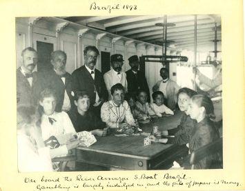 Sir Benjamin Stone, On board the River Amazon steam boat Brazil, Brazil 1893