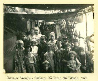 Sir Benjamin Stone, Portuguese emigrant children, S.S Trent, for Brazil, 1893.