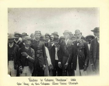 Sir Benjamin Stone, Visitors to the Eclipse Station, The Day of the Eclipse, Parra Curu, Brazil, 1893