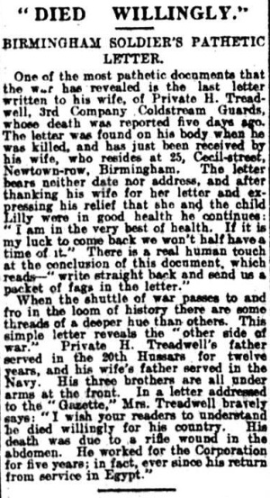 Birmingham Gazette, 23 September 1914